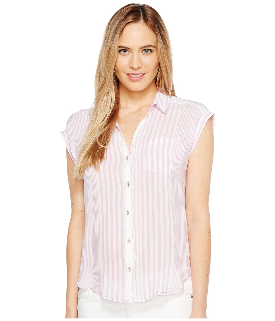 Calvin Klein Jeans Whisper Weight Pop Over Blouse (Electric Orchid) Women