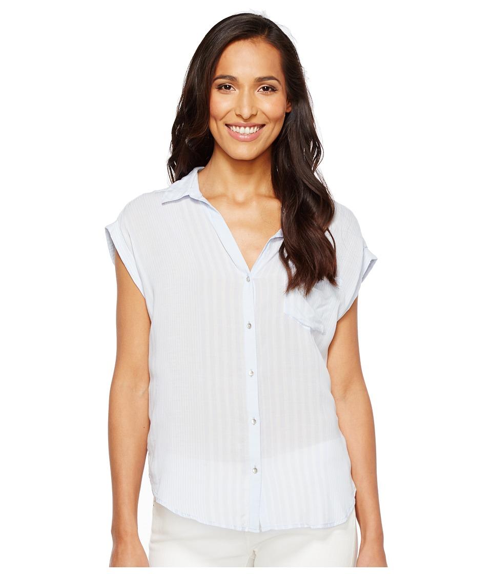 Calvin Klein Jeans Whisper Weight Pop Over Blouse (Heather) Women