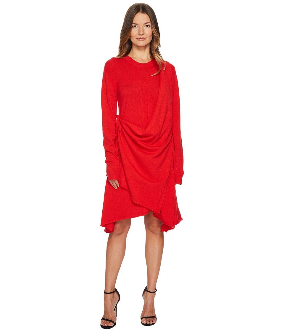 Sonia Rykiel - Runway Cashmere Long Sleeve Drape Front Dress