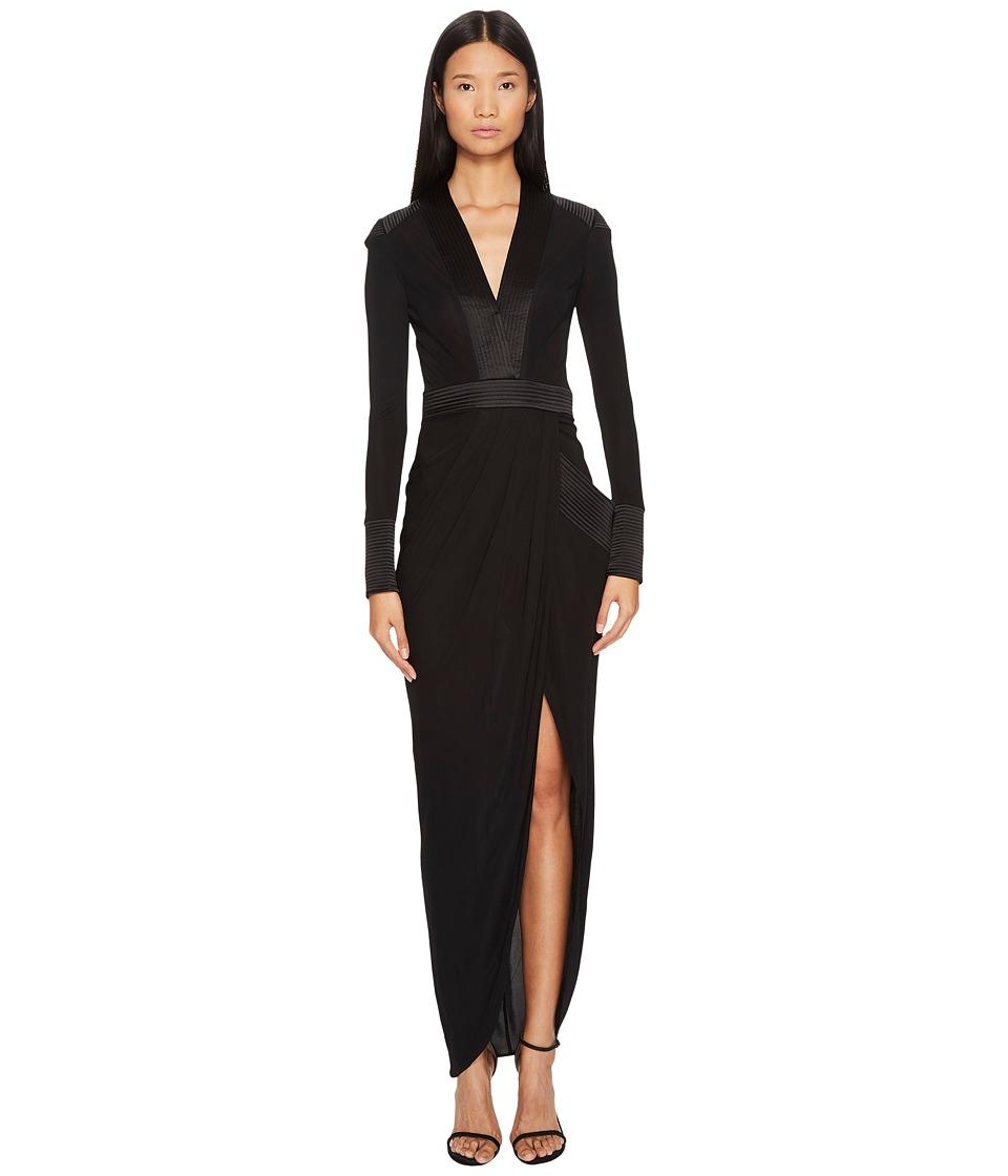 THOMAS WYLDE - Shelly Long Sleeve Jersey Long Dress