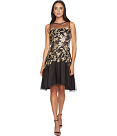 Tahari by ASL - Embroidered Mesh Party Dress