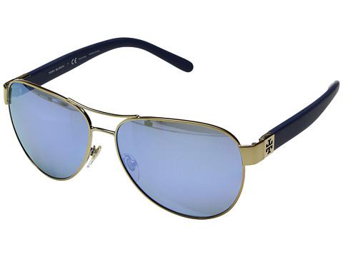 Tory Burch 0TY6051 - Gold/Blue Flash Polarized Mirror