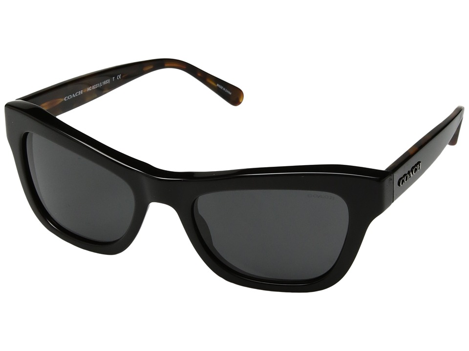 COACH - 0HC8223 (Black/Dark Grey Solid) Fashion Sunglasses