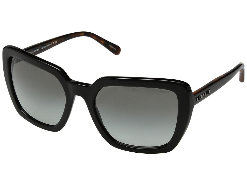 COACH - 0HC8217 (Black/Dark Grey Gradient) Fashion Sunglasses