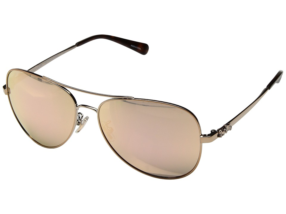 COACH - 0HC7074 (Rose Gold/Rose Gold Mirror) Fashion Sunglasses