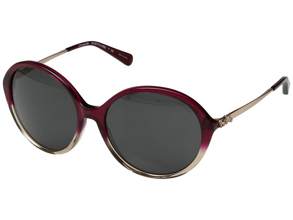 COACH - 0HC8214 (Red Sand Gradient/Dark Grey Solid) Fashion Sunglasses