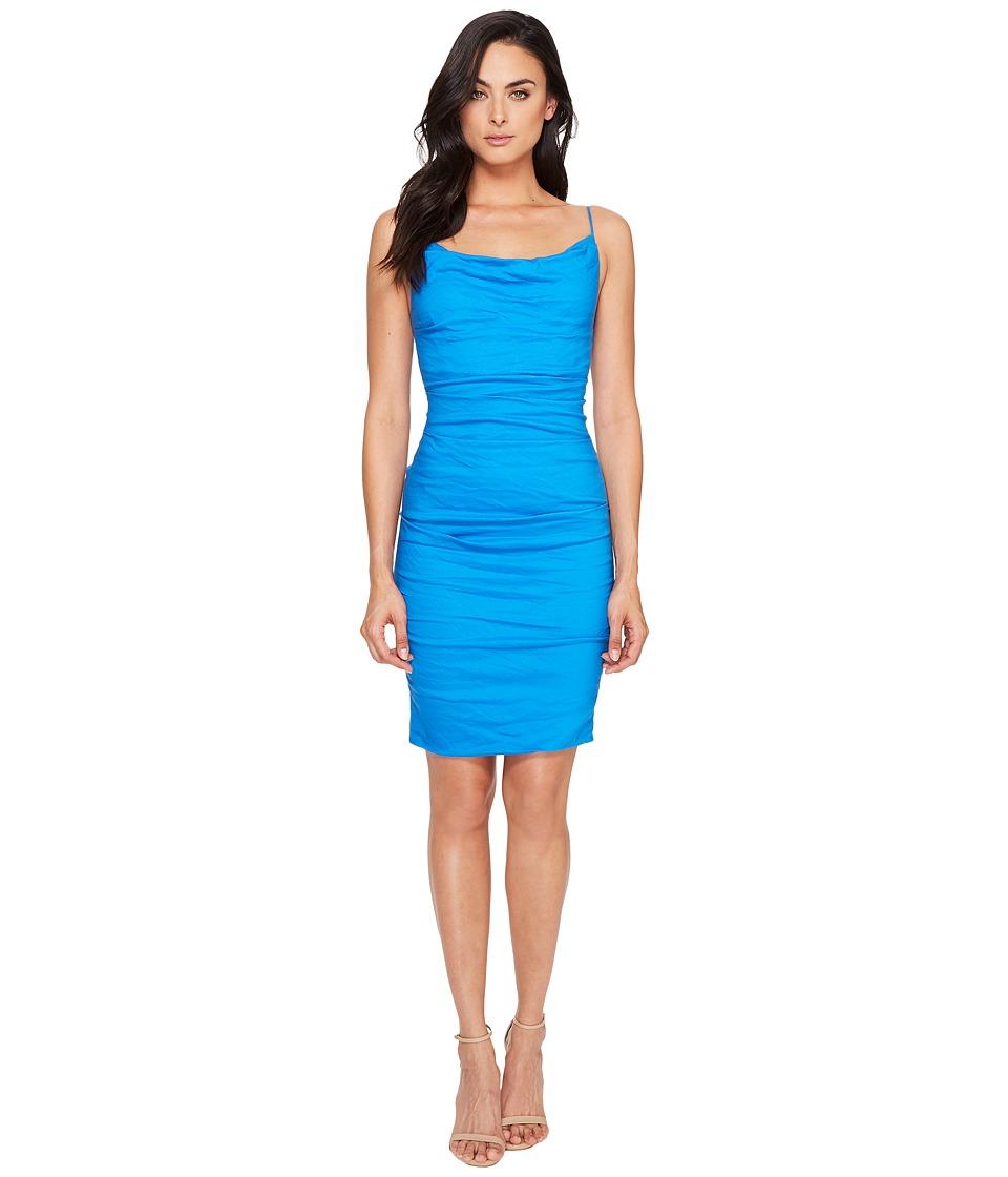 Nicole Miller Carly Cotton Metal Spaghetti Strap Dress (Maldives Blue) Women