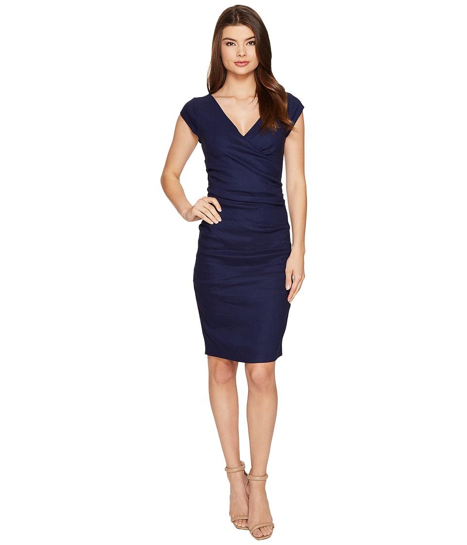 Nicole Miller Linen Beckett Dress (Dark Denim) Women