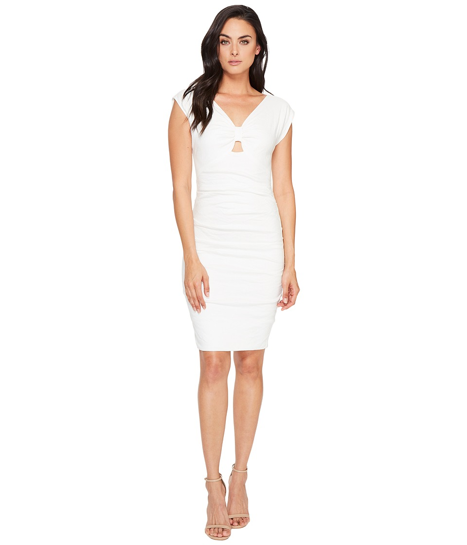 Nicole Miller Bow Tie Melody Dress (White) Women