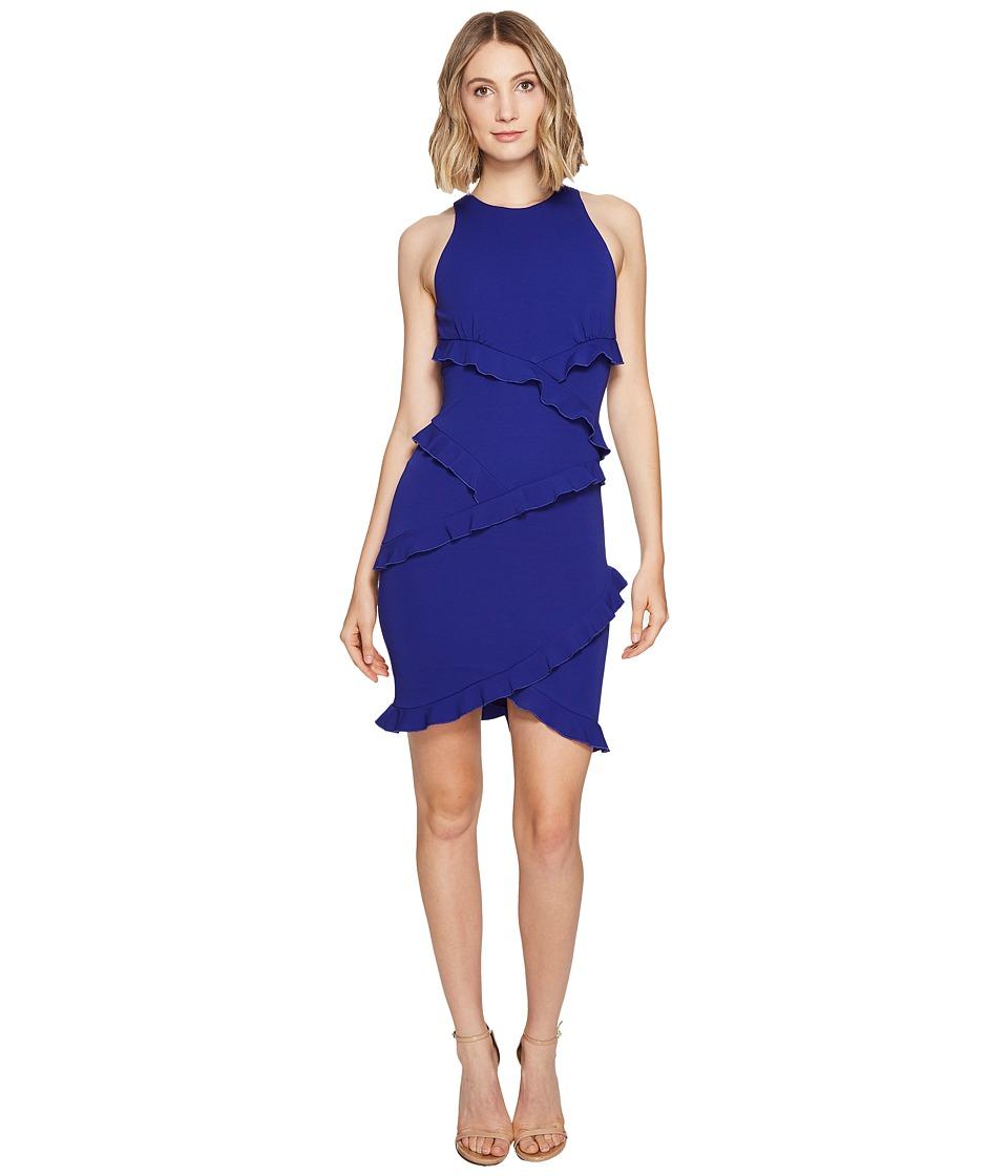 Nicole Miller McCartney Ruffle Dress (Royal) Women