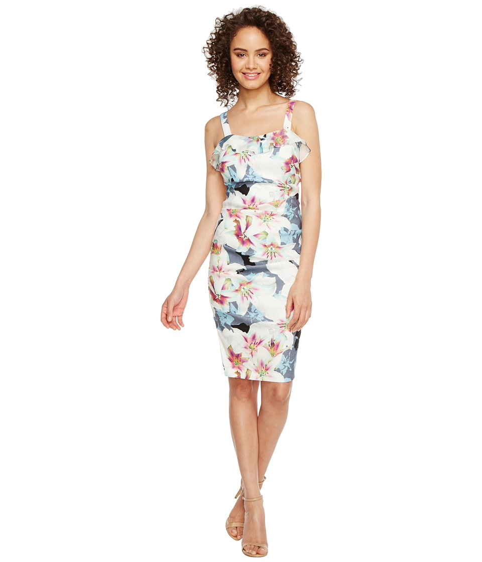 Nicole Miller Liza Summer Linen Cocktail Dress (Chambray Multi) Women
