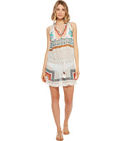 Nicole Miller - La Plage By Nicole Miller Fifi Printed Beach Cover-Up