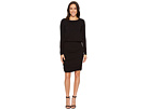 Mod-o-doc Cotton Modal Spandex Jersey Long Sleeve Blouson Dress with Shirred Skirt