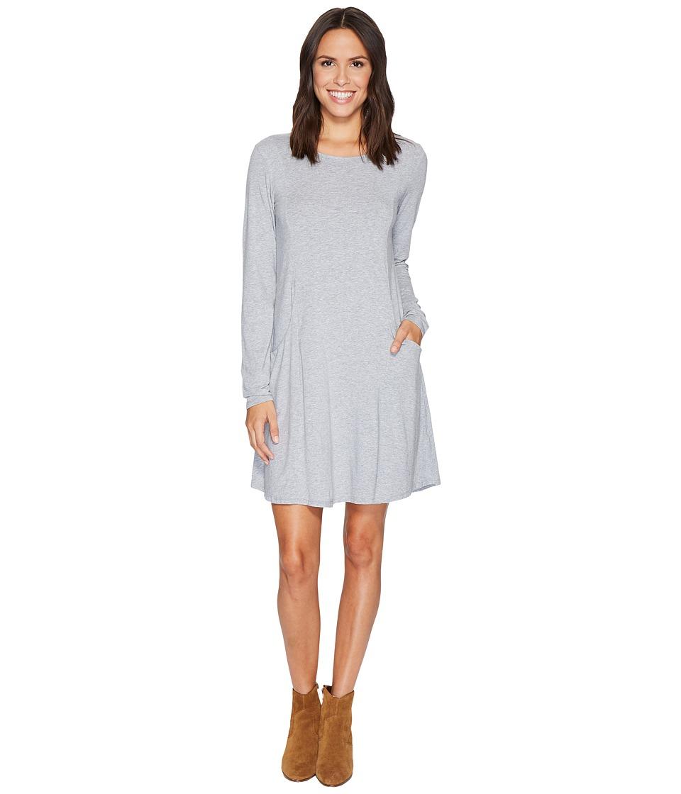 Mod-o-doc Cotton Modal Spandex Jersey Princess Seamed Dress with Front Pockets (Smoke Heather) Women