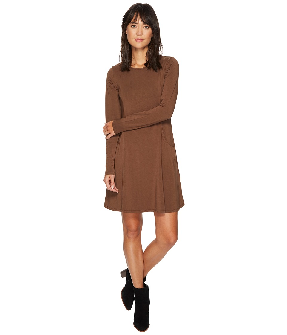 Mod-o-doc Cotton Modal Spandex Jersey Princess Seamed Dress with Front Pockets (Cabin) Women