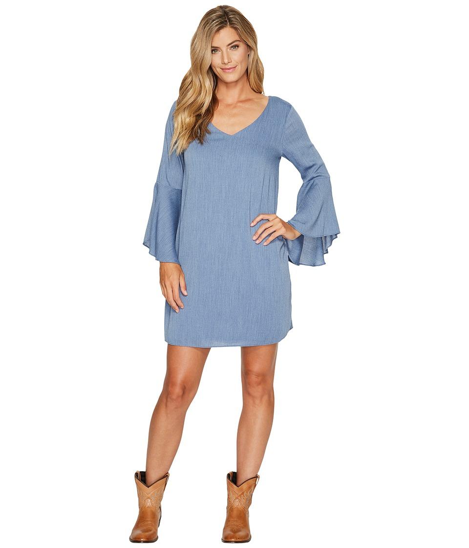 Wrangler - V-Neck Flutter Sleeve Dress