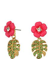 Betsey Johnson - Tropical Flowers & Leaves Earrings Jacket