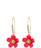 Betsey Johnson - Tropical Flower Long Drop Earrings