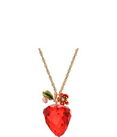 Betsey Johnson - Strawberry Pendant Long Necklace