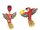 Betsey Johnson - Tropical Pave Parrot Mismatch Drop Earrings