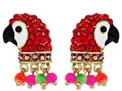 Betsey Johnson - Tropical Pave Parrot Stud Earrings