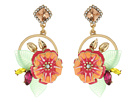 Betsey Johnson - Tropical Flower Cluster Round Drop Earrings