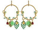 Betsey Johnson - Tropical Vine & Leaves Gypsy Hoop Earrings