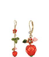 Betsey Johnson - Strawberry Mismatch Drop Earrings