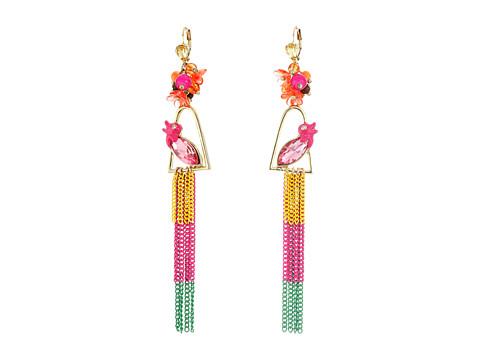 Betsey Johnson Tropical Bird Linear Earrings - Multi