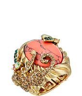 Betsey Johnson - Tropical Pave Monkey Semiprecious Stone Stretch Ring