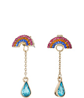 Betsey Johnson - Pave Rainbow & Stone Earrings Jacket