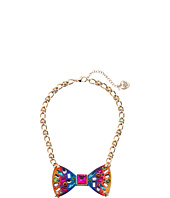 Betsey Johnson - Rainbow Bow Frontal Necklace
