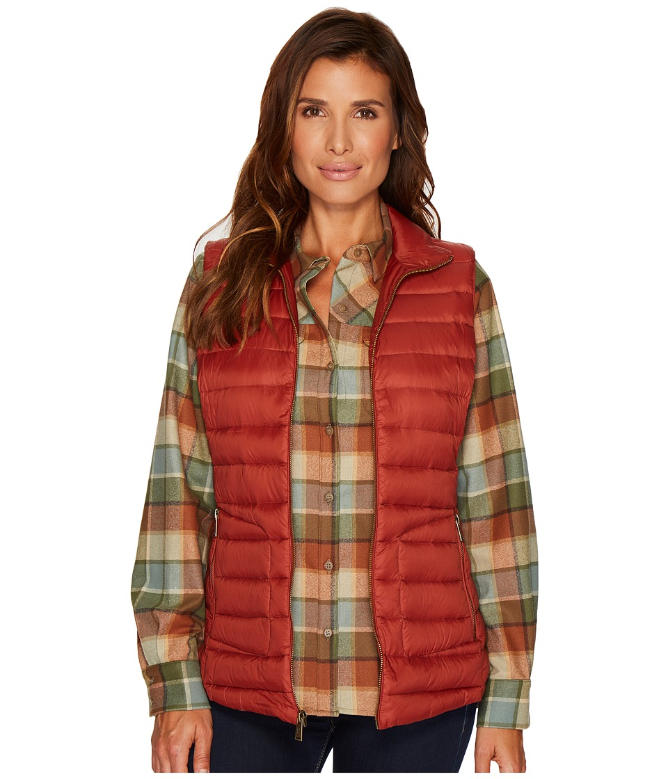 Pendleton Zip Front Vest (Copper) Women