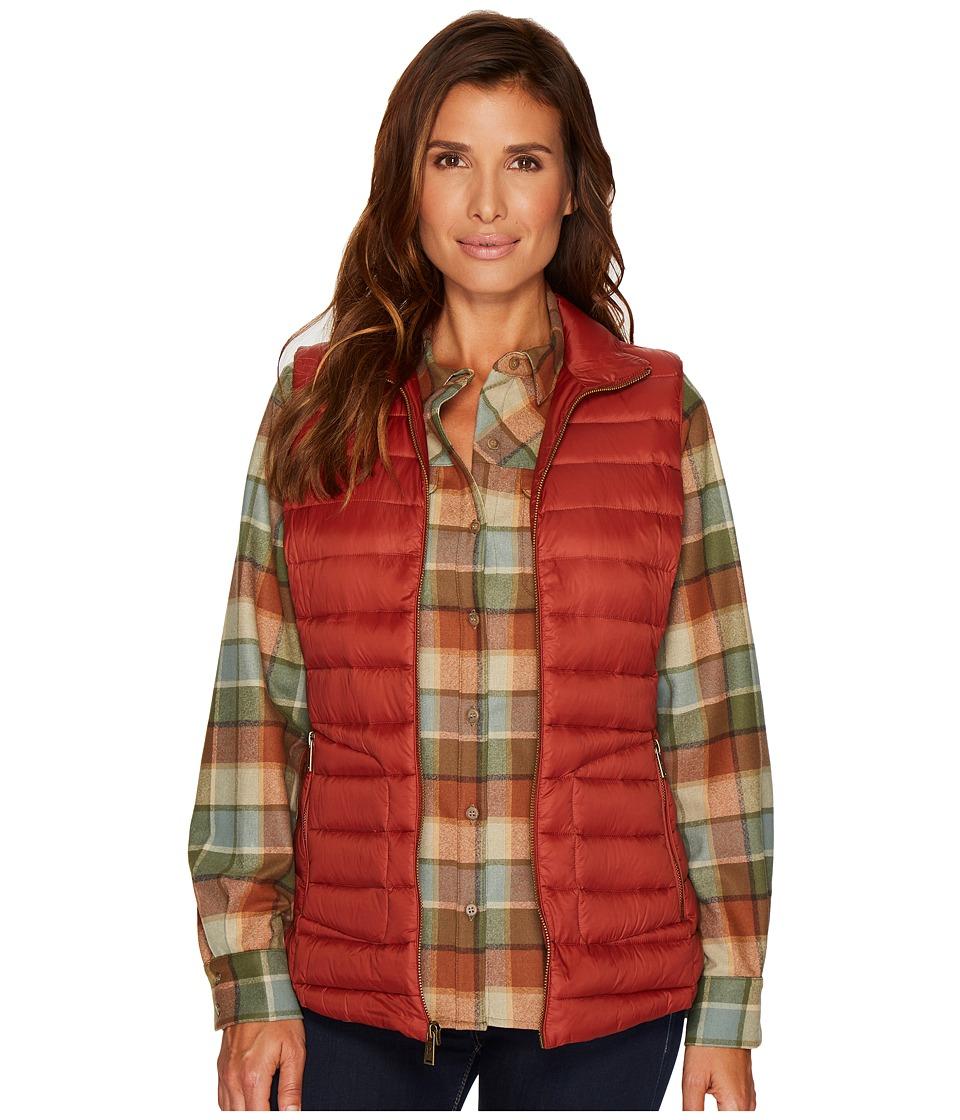 Pendleton Zip Front Vest (Copper) Women
