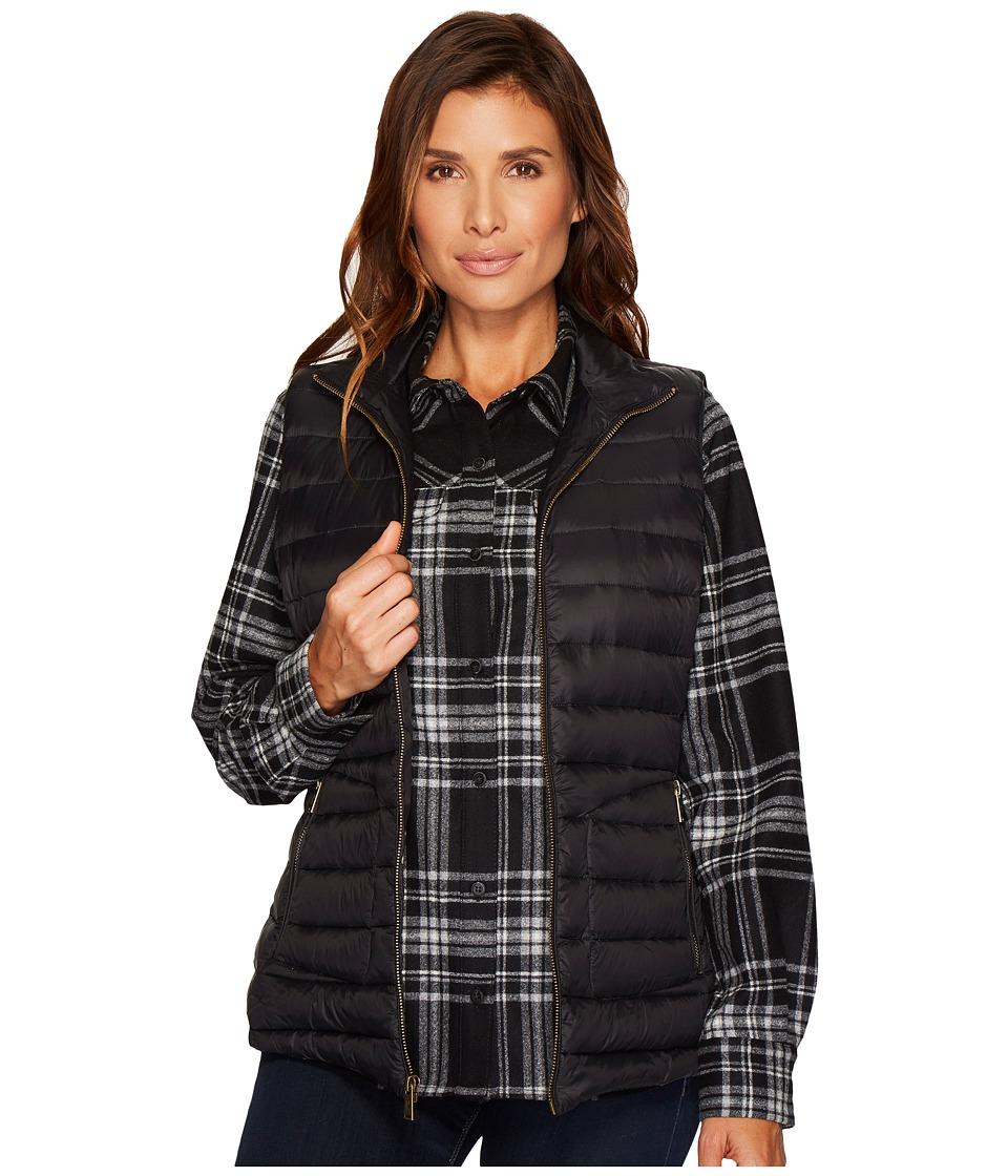Pendleton Zip Front Vest (Black) Women