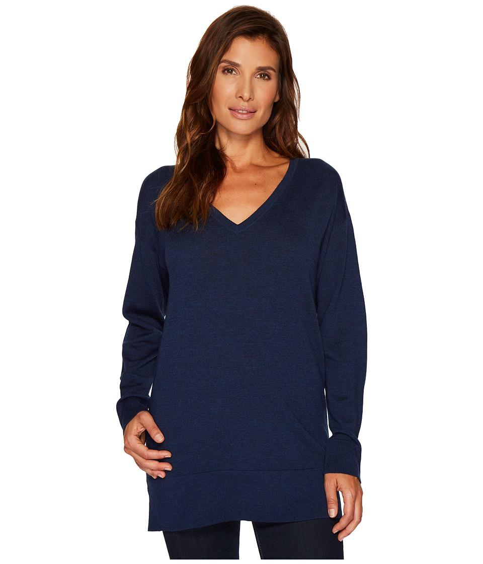 Pendleton Merino V-Neck Pullover (Baltic Blue) Women