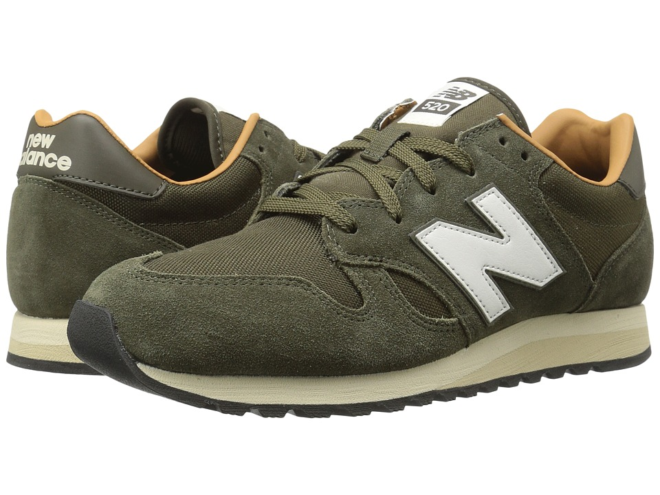 1960s Style Men's Clothing, 70s Men's Fashion New Balance Classics - U520v1 Military Dark Triumph GreenBrown Sugar Classic Shoes $79.95 AT vintagedancer.com