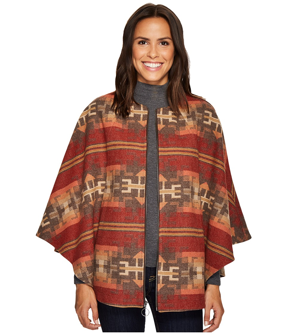 Pendleton Aurora Zip Front Cape (Broken Arrow Jacquard) W...