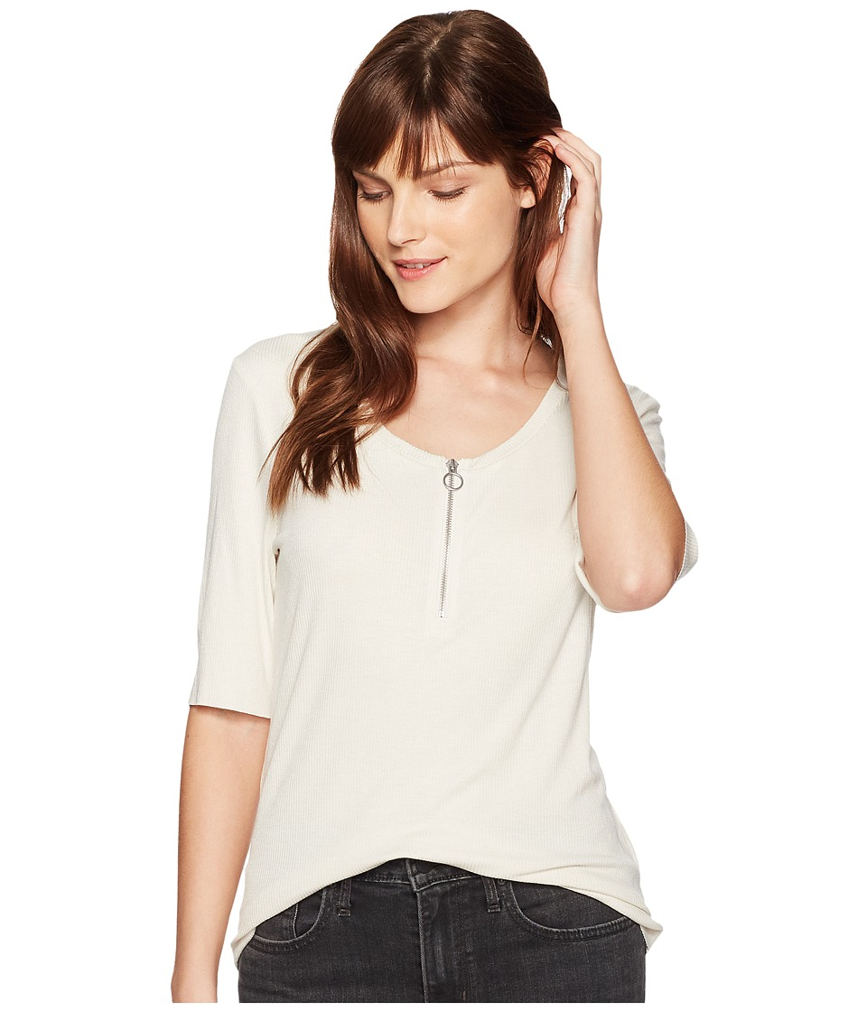 Calvin Klein Jeans Rib Top w/ O-Ring Detail (Birch) Women