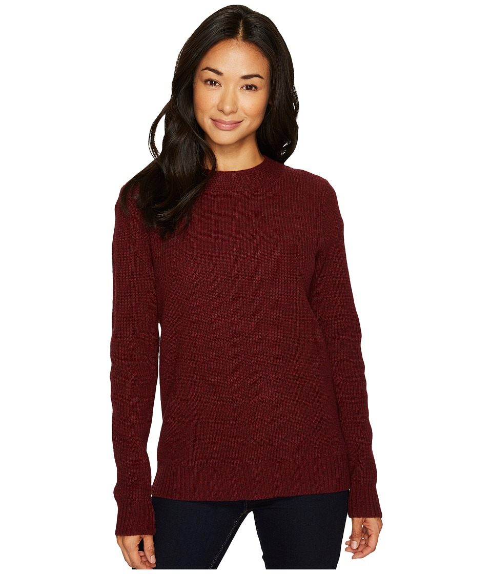 Pendleton Ribbed Lambswool Pullover (Crimson Heather) Women