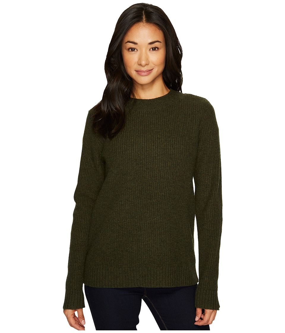 Pendleton Ribbed Lambswool Pullover (Evergreen Heather) Women