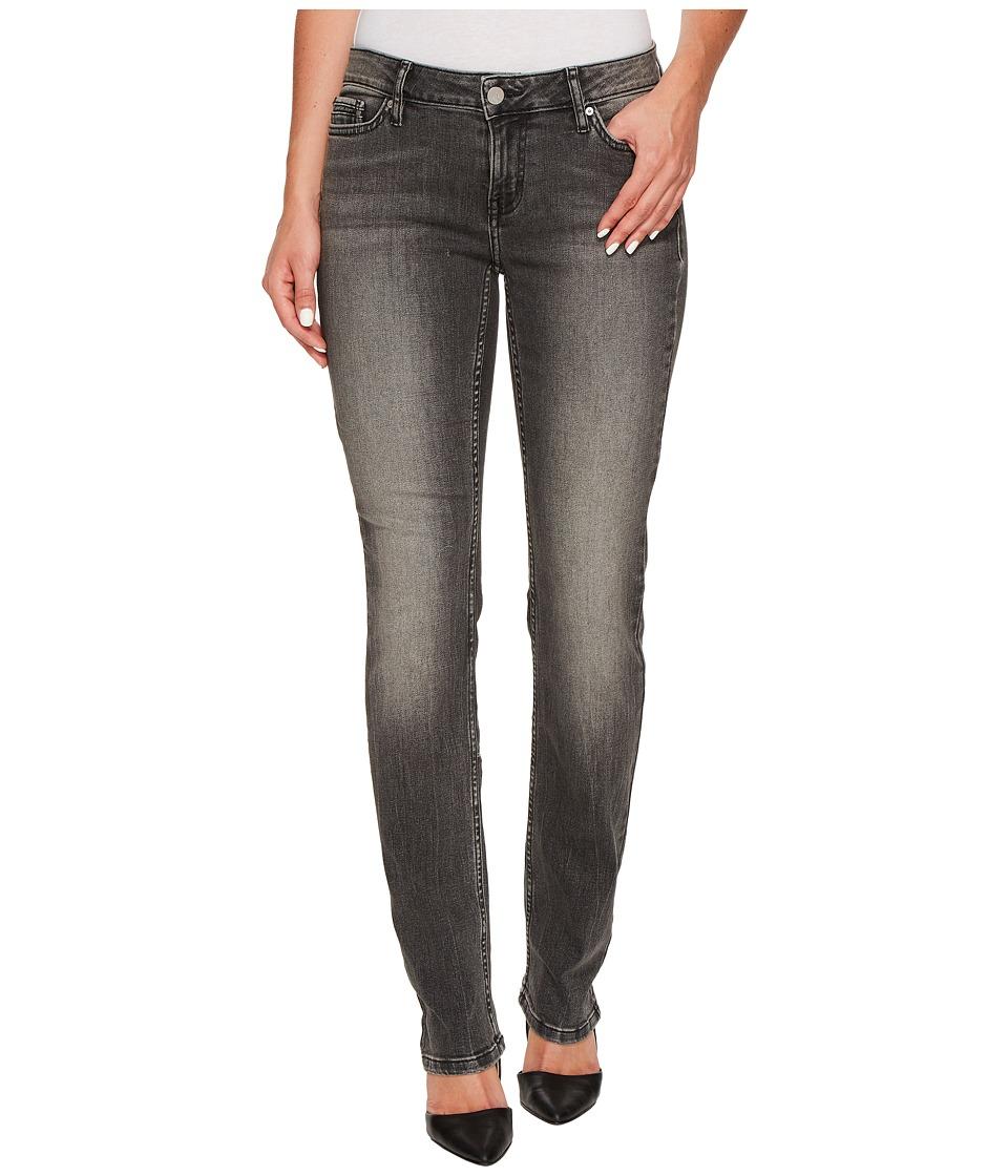 Calvin Klein Jeans Straight Leg Jeans in Black Top Wash (Black Top) Women