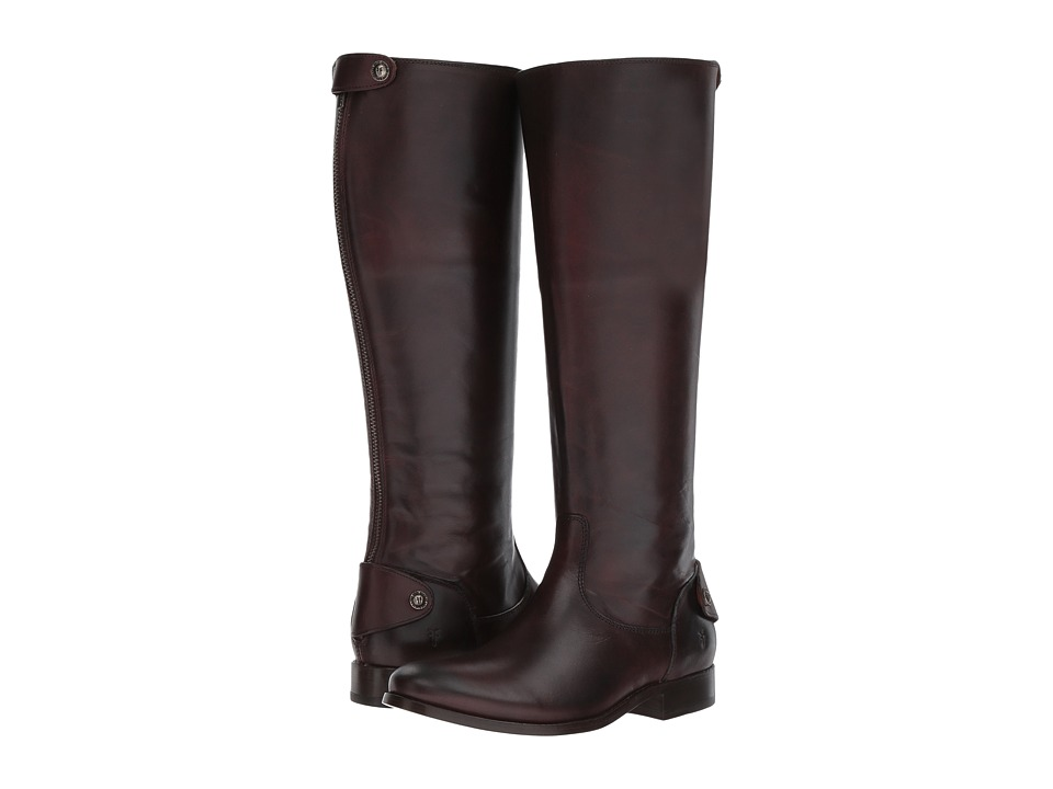 Frye Melissa Button Back Zip (Dark Brown)