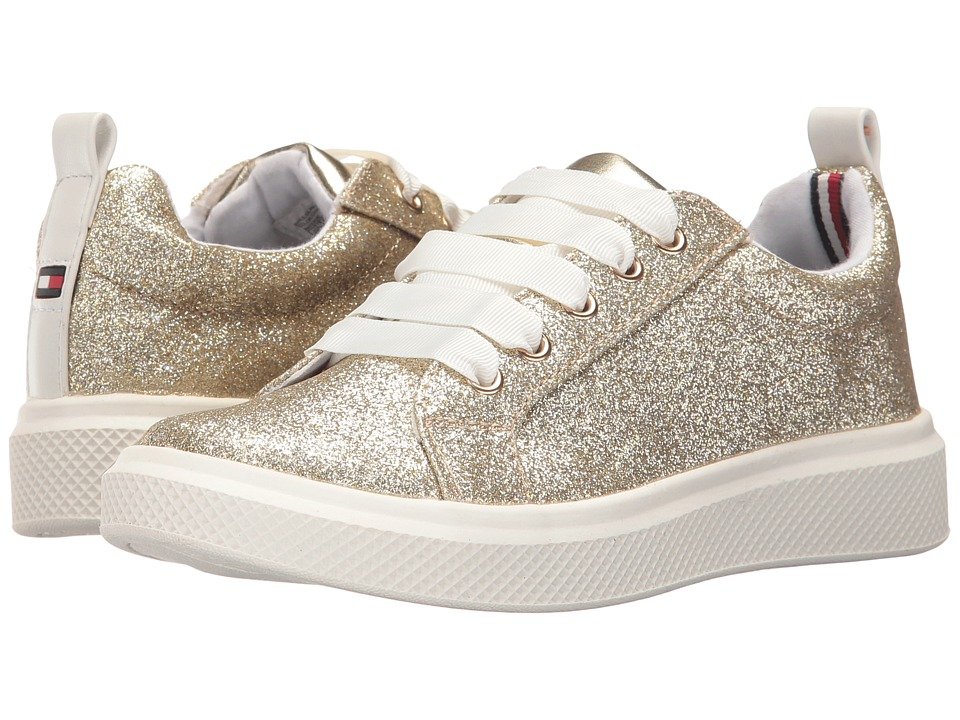 Tommy Hilfiger Kids Glam Glitter (Little Kid/Big Kid) (Champagne/Gold Metallic) Girl's Shoes