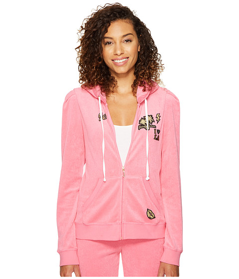 Juicy Couture Venice Beach Patches Microterry Puff Sleeve Jacket