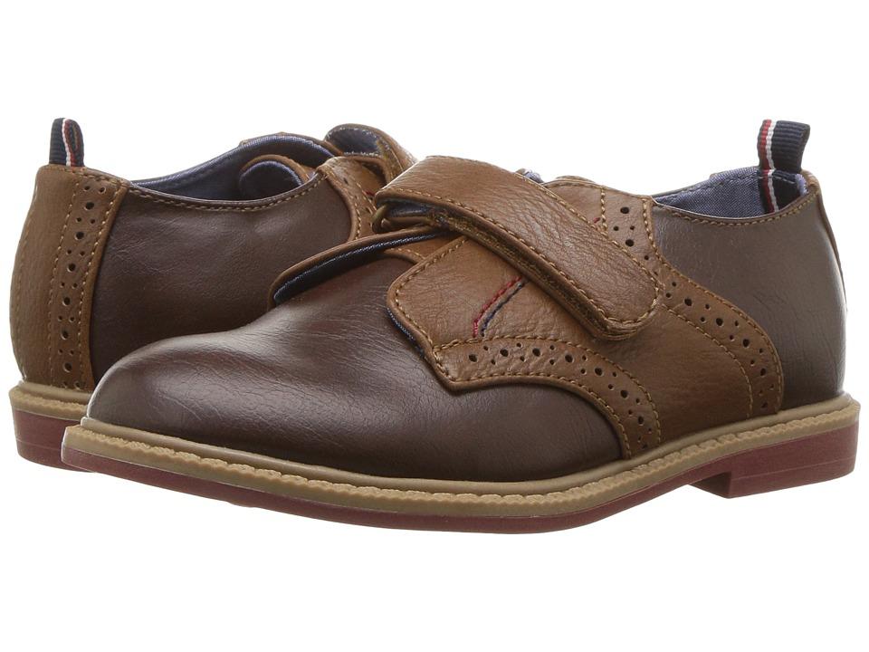 Tommy Hilfiger Kids Michael Saddle (Toddler) (Dark Brown/Cognac/Peacoat) Boy's Shoes
