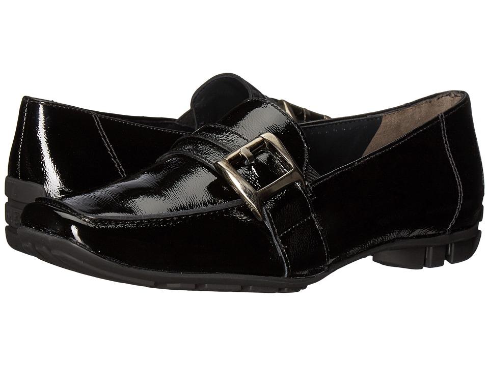 Paul Green Neutron Loafer (Black Crinkled Patent) Women
