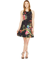 CeCe - Twist Back Jungle Parakeet Halter Dress