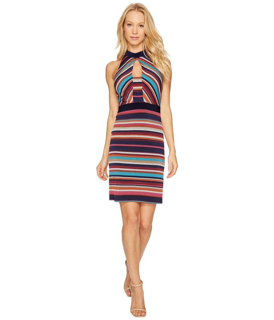 Laundry by Shelli Segal - Printed Stripe Sheath Dress