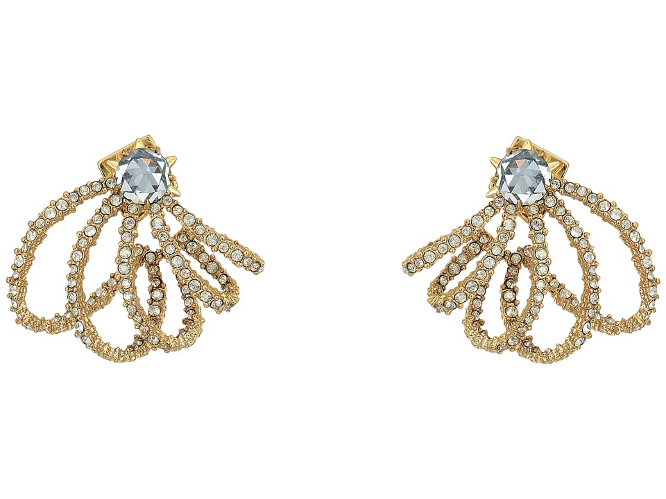 Alexis Bittar Crystal Lace Orbiting Post Earrings (10K Go...